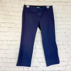 Lilly Pulitzer navy Palm Beach fit crops capri